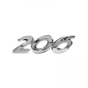 آرم خودرو نوشته 206