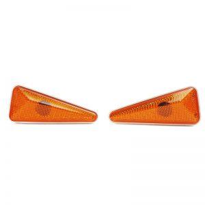 چراغ راهنما روی گلگیر اسپرتی مثلثی نارنجی آذرپارت پراید