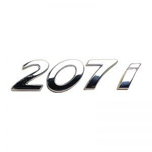 آرم خودرو نوشته 207i دو تکه ایساکو پژو 207